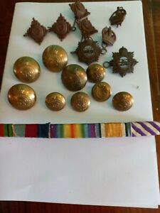 Job Lot of WW2 Royal Army Service Corps Buttons, Collar Badges and Officer Pips