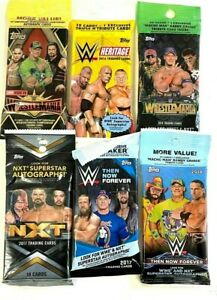 2016-2019 TOPPS WWE ASSORTED VALUE/FAT PACKS  ( 30 PACK LOT )