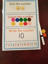 Mathematic / Numeracy - roll the dice / count the number & write the number