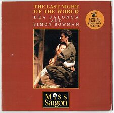 "LEA SALONGA & SIMON BOWAN - 7"" - The Last Night Of The World. LIMITED EDITION"