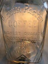 Vintage Square Glass Coffee Jar