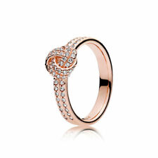 NEW! Authentic Pandora ROSE Sparkling Love Knot Ring #180997CZ-48 (4.5) $80