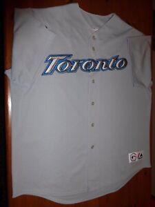 Toronto Blue Jays Gray Away Majestic Jersey earlier version Size Mens XXL 2XL