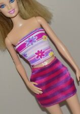 Barbie Outfit Floral Top Striped Skirt Fits Fashionista Model My Scene Liv Doll