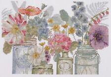 DMC Cross Stitch Kit - Rainbow Seeds Flowers X - designed by Lisa Audi