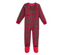 002413867f Family Pajamas Boy s or Baby Holiday Plaid Footed Pajamas. Size 18 Months