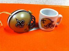 New Orleans Saints NFL Mini Helmet and Mini Coffee Cup Mug