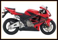 Hot CN ABS Black Red Fairing Bodywork Injection Kit For Honda CBR600RR 2005-2006