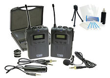 Pro UHF Wireless Microphone System w/ Lavalier for Canon XF100 XF105 XF300 XF305
