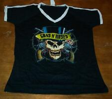VINTAGE STYLE WOMEN'S TEEN GUNS N' ROSES SKULL T-shirt SMALL NEW