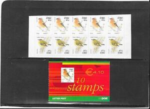 "STAMPS:IRELAND 2002 ""BIRDS"" e4.10 BOOKLET(SB101) contains 10 x 41c  (U/MINT)"