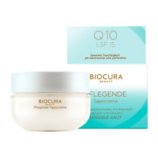 2 Pack BIOCURA Nourishing day cream with almond oil, coenzyme Q10 SPF15 New