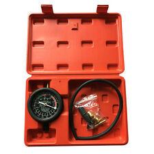 Carburetor Valve Fuel Pump Pressure & Vacuum Tester Gauge Test Car/Truck Kit