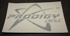 """New Prodigy Disc Vinyl Sticker-White-5 1/4"""" x 3 1/4"""""""