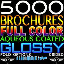 "5000 BROCHURES 8.5""X11"" FULL COLOR 8.5X11 Professional Print 100LB GLOSS FOLDED"
