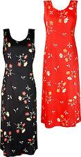 Womens Floral Printed Dress Sleeveless Dresses Viscose Fabric