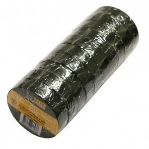 10 Pack Black Electrical Insulation Tape