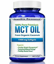 MCT Oil Capsules from Organic Coconuts - 1000 mg 180 Softgels