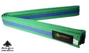 Taekwondo Belt Bi-Colour Martial Arts Belt Striped All Colours and Sizes