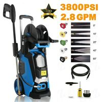 3800PSI 2.8GPM Electric Pressure Washer/ High Power Cold Water Cleaner Machines;