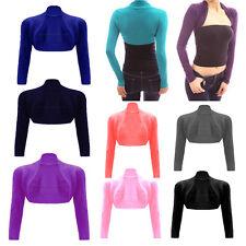 Ladies Plain BOLERO SHRUG Long Sleeves, Girls Cardigan Short Crop Summer top lot