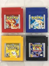 Pokemon Red + Blue + Yellow + Card Game Lot Nintendo Gameboy Tested SAVES