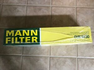 MANN FILTER CUK8430  Cabin filter with activated charcoal, Made in Germany