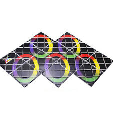 Rainbow 12-Panel Rubik  Master Magic 8 Ring Puzzle Toy ghost hand AB