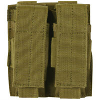NEW - Military Style Tactical Dual Pistol Mag MOLLE Pouch - DESERT COYOTE TAN