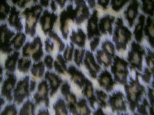 """Leopard Animal Print Patterned Fur Fabric 60""""Wide SOLD BY THE METRE"""