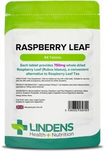 Raspberry Leaf Tea 84 Tablets for Healthy Pregnancy and Maternity Lindens