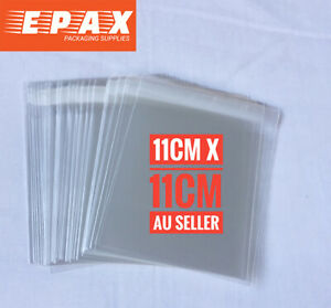 90 pieces 11 x 11cm Self Adhesive Seal Clear CELLO Bags