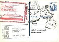 Deutsche Schiffspost Stempel MS EUROPA 1986 Brasilien Amazonas Paquebot Genova