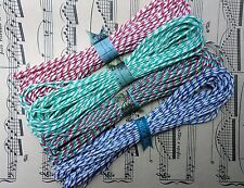 80 m British Butchers Twine 8 x 10 m Red White Blue Green Bakers Twine Craft Lot