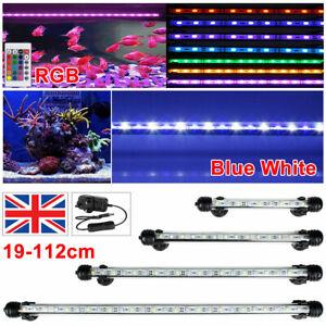 19-112CM LED Aquarium Fish Tank Submersible Light RGB White Blue Strip Bar Lamps