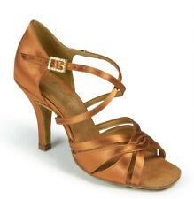 "International Dance Shoes IDS Mia 3"" heel Tan UK 5 / US 7 - 7.5 Ballroom latin"