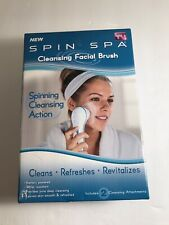 SPIN SPA CLEANSING FACIAL BRUSH WITH 2 CLEANSING ATTACHMENTS - AS SEEN ON TV