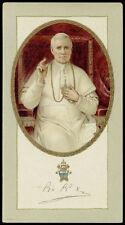 antico santino cromo-holy card S.PIO X PAPA