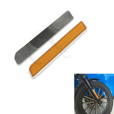 Front Fork Leg Reflectors Fits For Harley Touring lower legs sliders Dyna Glide