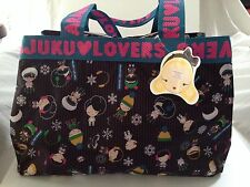 HARAJUKU LOVERS SNOWBOARD TOTE GIRLS SCHOOL BAG DIAPER TRAVEL STEFANI NWT Black