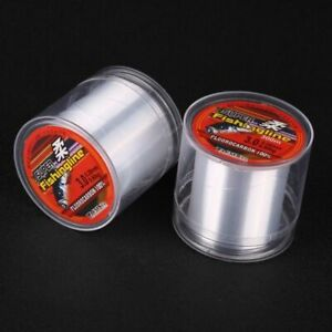 Fishing Line Tackle Fluorocarbon Super Strong Japanese 500M Nylon Transparent Rp