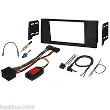 FK-769-R BMW 5 SERIES E39 1997 to 2003 BLACK DOUBLE DIN FASCIA & STALK FULL KIT