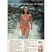 1966 Sego Diet Food: 61 More Slimming Days Til Summer Vintage Print Ad