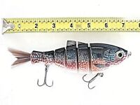 "Hair Tail 7"" Saltwater Lure Pumpkinseed Color For Seabass Pike Striper redfish"