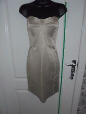 Ladies LOVE LABEL Size 16 Beige Bodycon Sleeveless Mini Dress