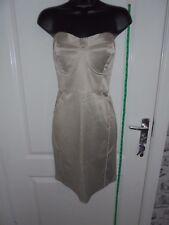Ladies LOVE LABEL Size 16 Beige Bodycon Sleeveless Mini Dress #2075