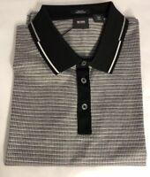 NWT $165 BOSS Hugo Boss Pitton 4 Black Label Short Sleeve Slim Fit Polo Shirt L