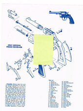COLT POLICE REVOLVER, 45 AUTO PISTOL EXPLODED VIEW PARTS LIST DISASSEMBLY  AD