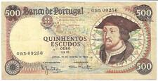 1966 Portugal 500 Escudos, Cat 98, VF/XF Condition  - P179