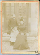 XIXé. photo ancienne . fillette avec sa poupée en porcelaine